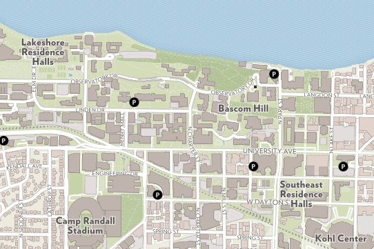 A view of the campus map.